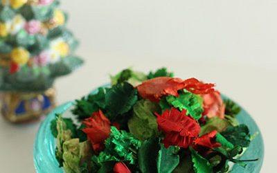 王室プロジェクトのクリスマスカラーポプリ